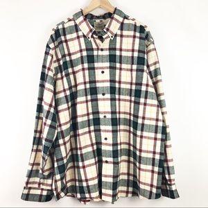 LL Bean Traditional Fit Button Down Shirt Size XL